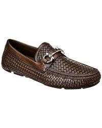 Ferragamo - Gancini Buckle Leather Loafer - Lyst