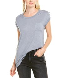 Chaser Strappy Linen-blend Top - Blue