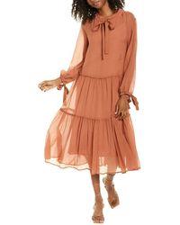 See By Chloé 2pc Silk-blend Maxi Dress Set - Brown