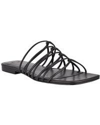 Marc Fisher Marcio Leather Sandal - Black
