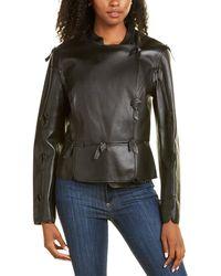 ESCADA Loman Leather Jacket - Black