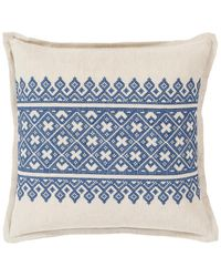 Surya Pentas Printed Throw Pillow - Blue