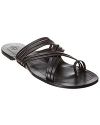 The Row Cannes Strappy Nappa Leather Sandal - Black