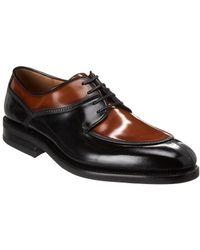 Ferragamo Two Tone Derby Leather Oxford - Black
