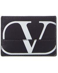 Valentino - Monogram Leather Card Holder - Lyst
