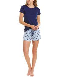 Flora Nikrooz 2pc Lola Shirt & Short Set - Blue