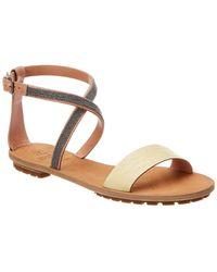 Brunello Cucinelli - Ankle-wrap Leather Sandal - Lyst