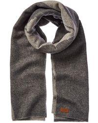 UGG Woven Logo Wool Scarf - Gray