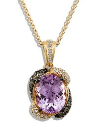 Le Vian - ® 14k Rose Gold 2.63 Ct. Tw. Diamond Pink Sapphire Necklace - Lyst