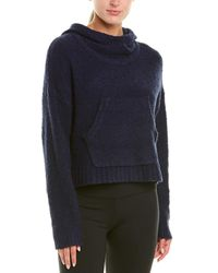 New Balance Boucle Cozy Crop Wool-blend Pullover - Blue