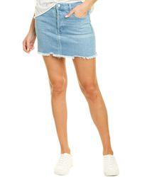 J Brand Bonny Mini Skirt - Blue