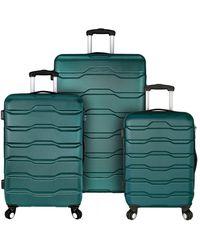 Elite Luggage Omni 3pc Hardside Spinner Luggage Set - Multicolour