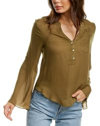Chaser Button-down Top - Green