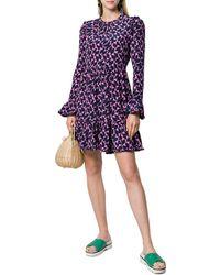 LaDoubleJ Visconti Silk Mini Dress - Blue