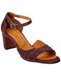 Chie Mihara Birra Suede Sandal - Purple