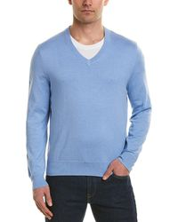 Brooks Brothers V-neck Sweater - Blue