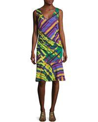 Tracy Reese Silk Print Flounced Tank Dress - Multicolour