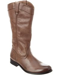 Frye Melissa Pull On Tall Leather Boot - Gray
