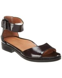 Gentle Souls By Kenneth Cole Gracey Leather Sandal - Black