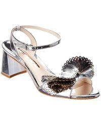Sophia Webster Soleil Leather Sandal - Metallic