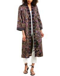 Johnny Was Velvet Mix Kimono - Multicolour