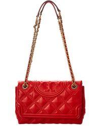 Tory Burch Fleming Leather Shoulder Bag - Multicolour