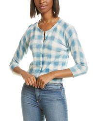 Autumn Cashmere Check Cashmere Baby Cardigan - Blue