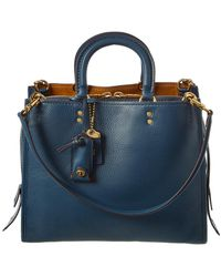 COACH Glovetanned Leather Rogue Tote - Blue