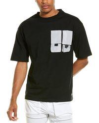 American Stitch Double Pocket T-shirt - Black
