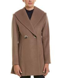 T Tahari - Colette Wool-blend Coat - Lyst