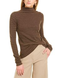 Vince Hazy Chalk Stripe Top - Brown