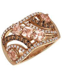 Le Vian 14k Rose Gold 1.59 Ct. Tw. Diamond & Morganite Ring - Metallic