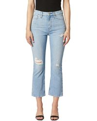 Hudson Jeans Holly Brightside High-rise Crop Bootcut Jean - Blue