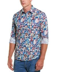 Robert Graham Babsdale Classic Fit Woven Shirt - Blue