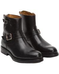 Frye Brayden Leather Engineer Boot - Black