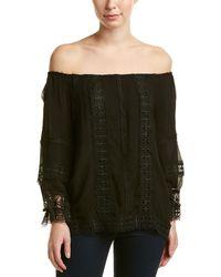 Ecru | Off-the-shoulder Silk Top | Lyst
