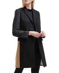 French Connection Platform Wool-blend Smart Coat - Black