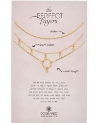 Dogeared - Perfect Layers Set Of 3 14k Over Silver Crystal Necklaces - Lyst