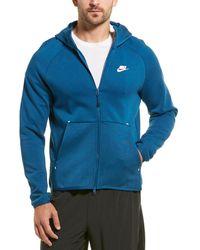 Nike Tech Fleece Full Zip Hoodie - Blue