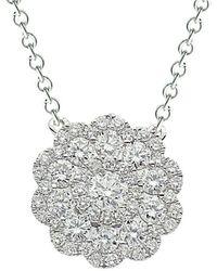 Suzy Levian 18k 0.62 Ct. Tw. Diamond Pendant Necklace - Multicolour