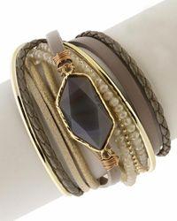 Saachi Endless Dream Double Wrap Bracelet - Multicolour