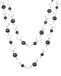 Coomi Opera Silver 128.37 Ct. Tw. Diamond & Black Spinel & Crystal Necklace - Metallic