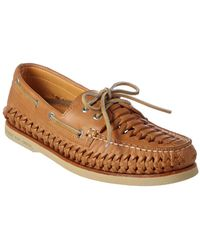 Sperry Top-Sider - Men's Gold A/o Woven Leather Boat Shoe - Lyst