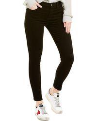 Current/Elliott Clean Black High-waist Stiletto Crop