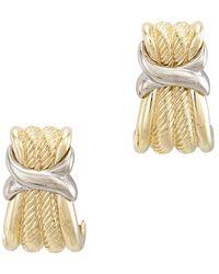 David Yurman - David Yurman Cable 14k & Silver Drop Earrings - Lyst