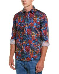 Robert Graham Rushton Classic Fit Woven Shirt - Red
