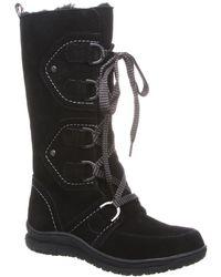 BEARPAW Justice Genuine Sheepskin & Wool Blend Lined Boot - Black