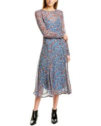 IRO Sunlight Midi Dress - Blue