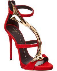 Giuseppe Zanotti Suede Sandal - Red