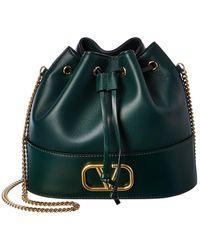 Valentino Garavani - Vlogo Leather Bucket Bag - Lyst